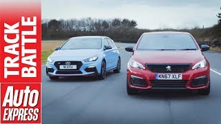 Hyundai i30 N vs Peugeot 308 GTi which hot hatch is fastest смотреть