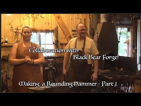 Rounding Hammer with Black Bear Forge