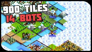 Polytopia 900 Tile Map 14 Bots WITH COMMENTARY | The Battle Of Polytopia Moonrise Gameplay (Part 1)