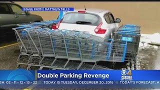 Walmart Shopper Punishes Driver For Taking Up Two Parking Spots
