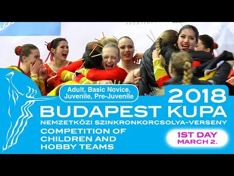 Budapest International Cup March 2, 2018. | Competition of children and hobby teams | LIVE STREAM