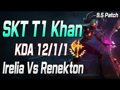 칸 탑 이렐리아 VS 레넥톤 //SKT Khan Top Irelia Vs Renekton S9 KR Challenger
