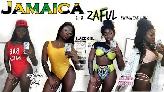 JAMAICA 2017 SLIM THICK SWIMWEAR TRY ON HAUL ZAFUL REVIEW