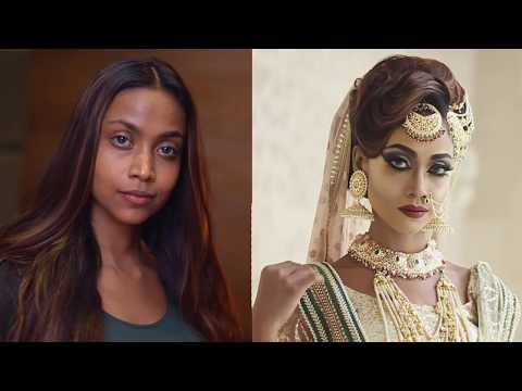 Dark skin beauty with Arabic eye makeup