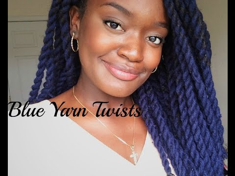 Blue Yarn Twists Tutorial Youtube