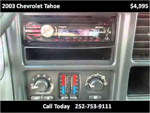 Auto Depot Farmville Nc >> 2003 Chevrolet Tahoe Used Cars Farmville NC - YouTube