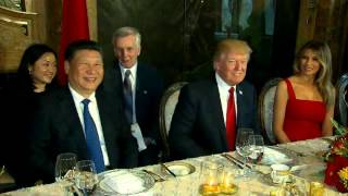 President Trump At Mar-A-Lago Dinner Table With Chinese President Xi Jinping (FNN)