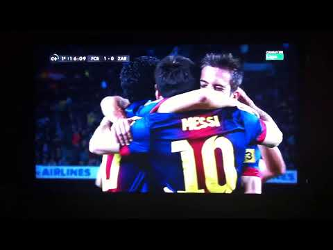 Gol de Messi al Zaragoza 2012
