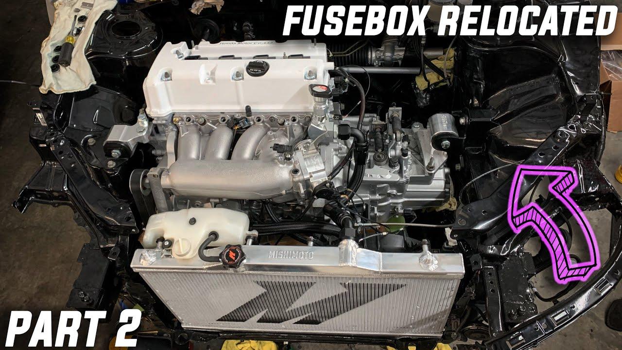RSX DC5 Fusebox Relocation DIY / Part 2 - YouTube   Acura Rsx Fuse Box Relocation      YouTube