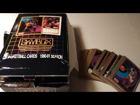 NBA Skybox series 1 1990-1991 Unboxing ASMR