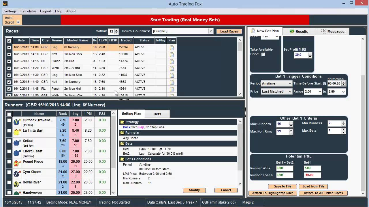 trading software betfair