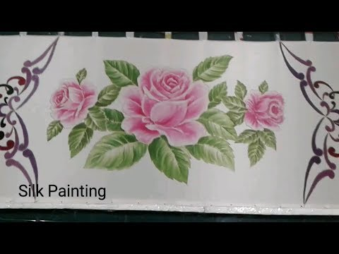 Step  Silk Painting Rose Motif Design Paint The Rose Lukis Kain Sutra Gambar Bunga Mawar Batik