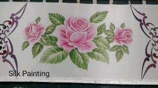 Step 2 Silk Painting Rose Motif Design, Paint The Rose, Lukis Kain Sutra Gambar Bunga Mawar Batik