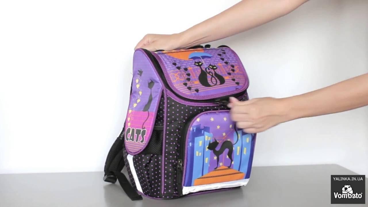b177c9b3ff1d школьный рюкзак для девочек 7794 cats - YouTube