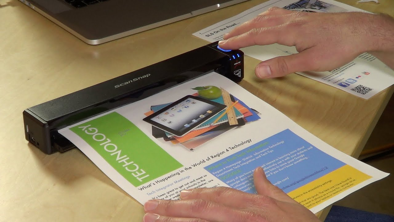fujitsu scansnap ix100 mobile portable scanner review youtube