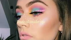 Easter egg themed festival makeup tutorial | Drugstore week | EmmasRectangle