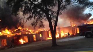 Winter garden house fire
