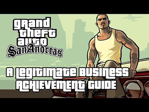 Grand Theft Auto San Andreas A Legitimate Business Achievement Guide