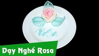 Học làm bánh kem: Sủi hoa hồng socola