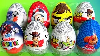 Surprise Eggs 4 Toy Story Kids Toys Kinder Surprise Avengers Assemble Paw Patrol Angry Birds