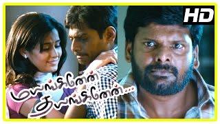 Mayanginen Thayanginen Tamil movie | scenes | Nithin brings Disha home | Pawan threatens Nithin