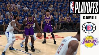 LA Lakers vs LA Clippers ( Playoff Game ) WC Game 1 - NBA 2k20