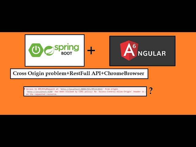 CORS Spring-boot+ Angular6 access-control-allow-origin cross origin