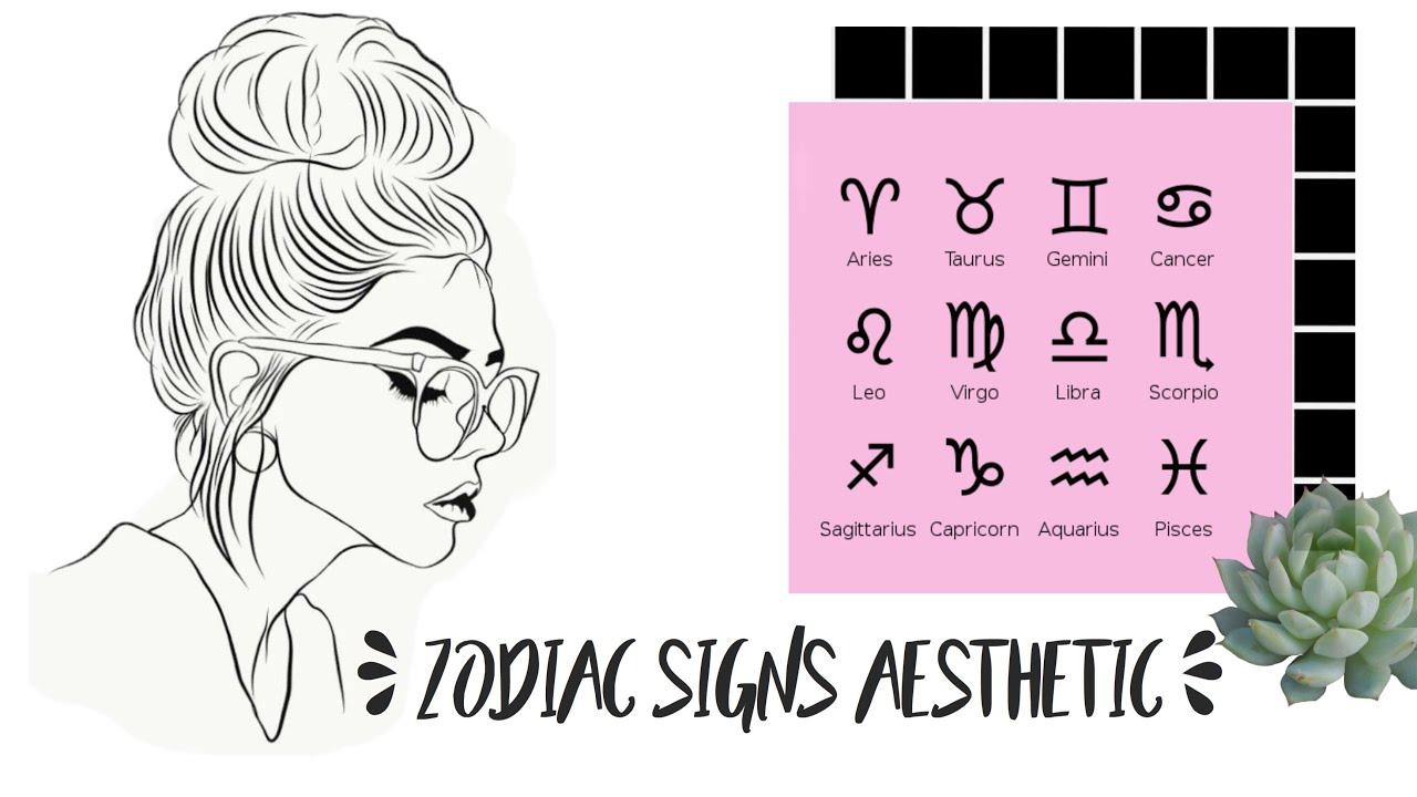 Zodiac Signs Aesthetic | Flowerina