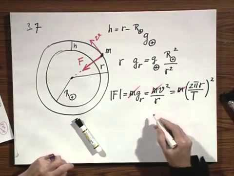 8.01x - Module 10.01 - Circular Orbit Of Satellite Around Earth.