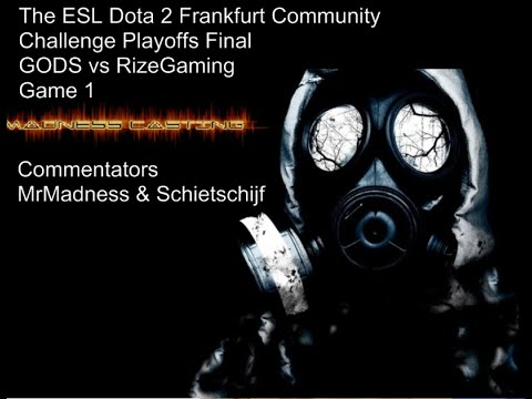 GODS vs RizeGaming ~Game 1~ Dota 2 Frankfurt Community Challenge Playoffs Finals