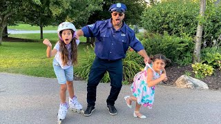 Deema and Sally learn safety rules with Police stories