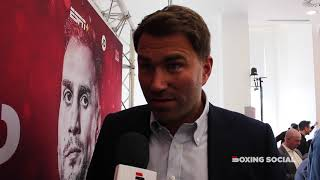 EDDIE HEARN TAKES AIM AT FRANK WARREN, TALKS KHAN-LO GRECO, JOSHUA-WILDER AND CANELO