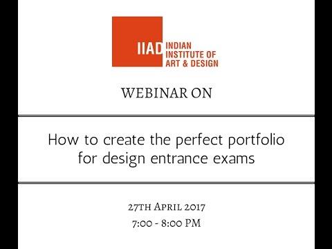 IIAD Webinar on How to Create a Portfolio for Design Entrance Exams