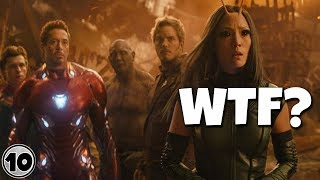 Top 10 Biggest WTF Questions From Avengers: Infinity War