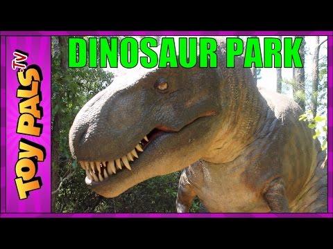 DINOSAUR PARK Tyrannosaurus Trek in OBX, North Carolina Jurassic Park Toypals.tv