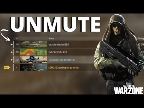 How To Unmute Teammates In Warzone | EASILY FIX LOBBY & IN GAME MUTE ISSUES