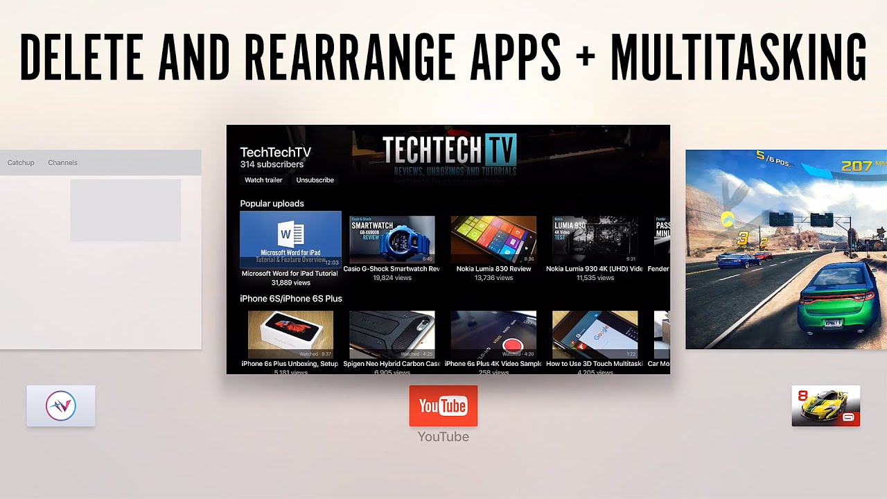 Apple Tv Tutorial  How To Rearrange And Delete Apps And Use Multitasking