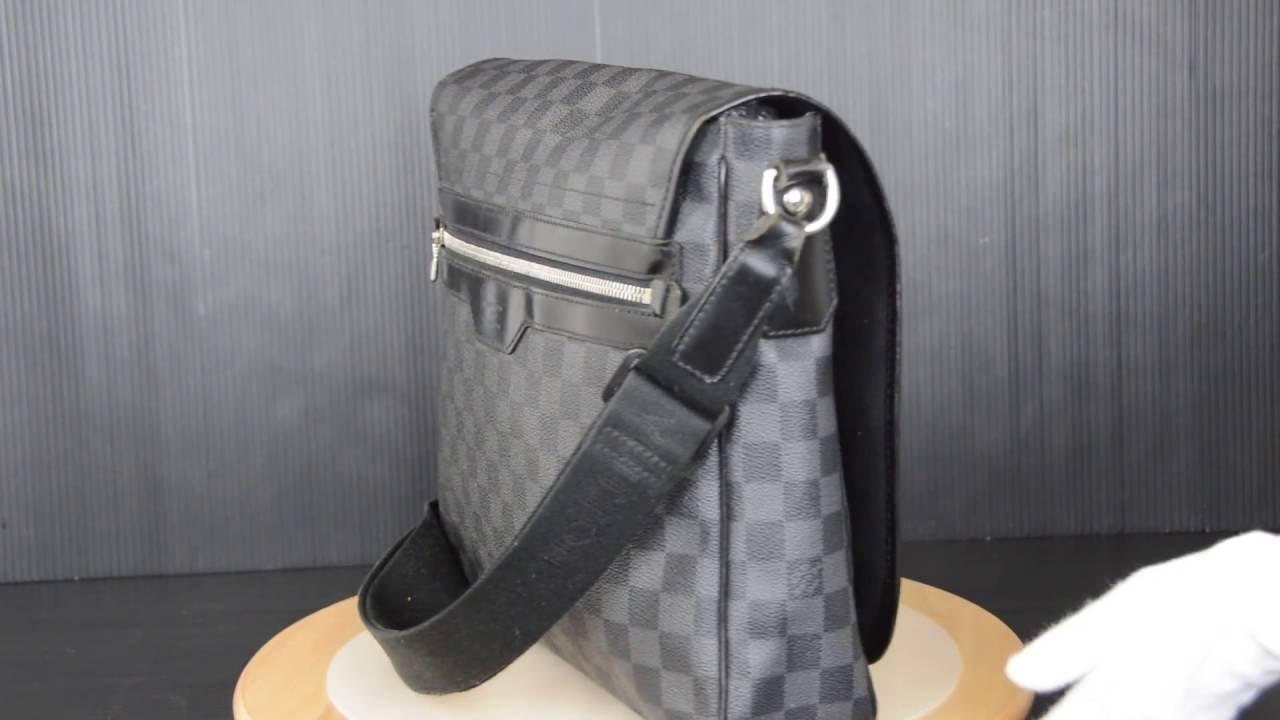 a389219bec82f ilovekawaii C02529 - Louis Vuitton Damier Graphite Daniel MM Shoulder Bag  N58029