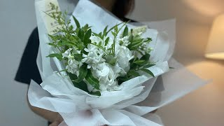 SUB) 꽃하나 | 플로리스트VLOG | 꽃다발 | 꽃…