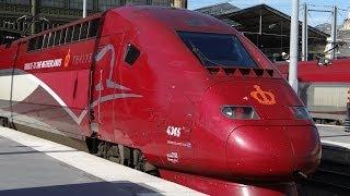 Из окна скоростного поезда Thalys Льеж - Париж