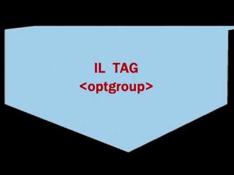 HTML Form: Il Tag Optgroup. Raggruppare Le Opzioni Della Combo