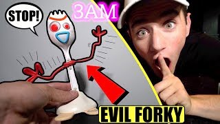 (Insane) D0 NOT CAPTURE THE EVlL FORKY FROM TOY STORY 4 AT 3AM! (He got REALLY Mad)
