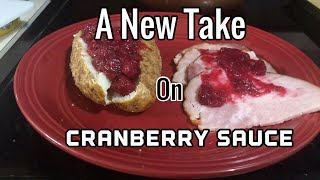 Slow Cooker Cranberry Sauce over Baked Potatoes