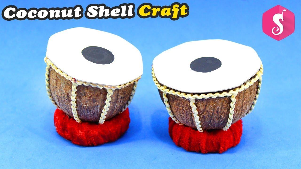 Coconut Shell Craft Idea Coconut Shell Reuse Craft Mini Tabla