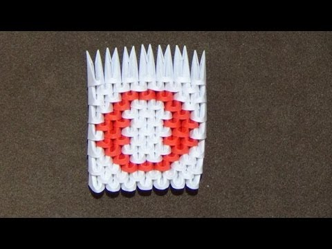 how to make a 3d origami number 0 youtube