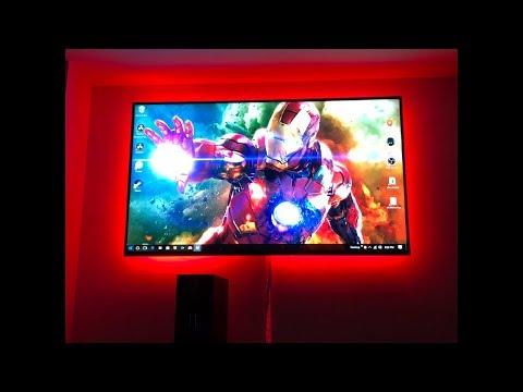 RGB LED LIGHT STRIP INSTALL | TV BACKLIGHT WITH NEXLUX LIGHT STRIP!!!