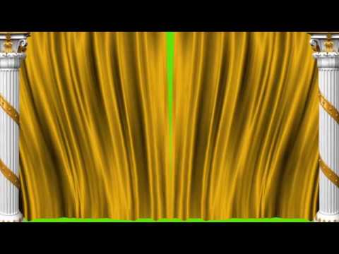 Gold Curtain Green Screen Animation Video Effects HD 1080p ||Kishore Gfx