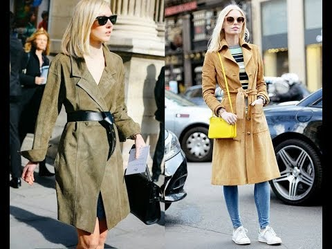 fall 2017 winter  2018 outfit with Kimono trench coat