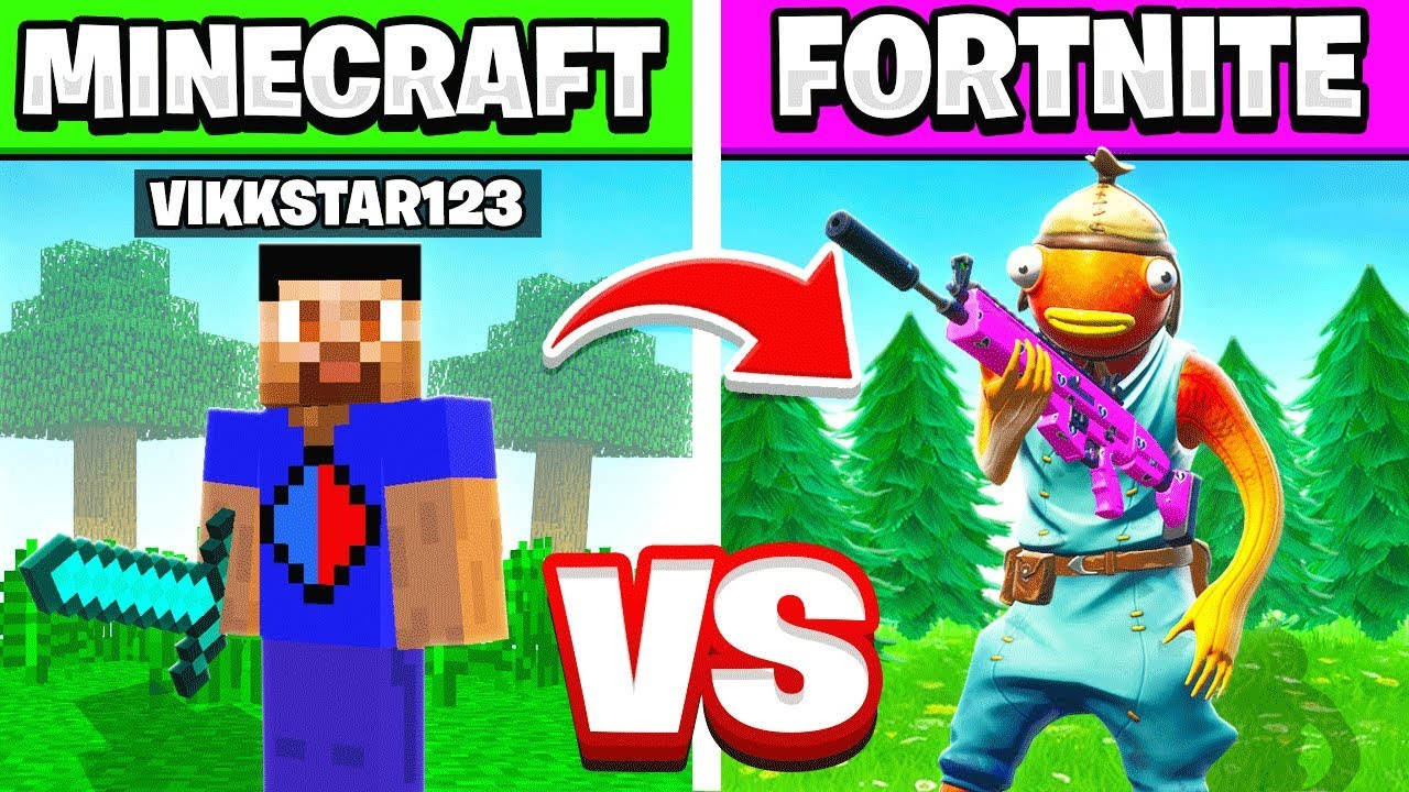 EPIC FORTNITE vs. MINECRAFT KILLS CHALLENGE WITH ...
