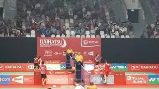 Kemeriahan turnamen badminton Indonesia masters 2018